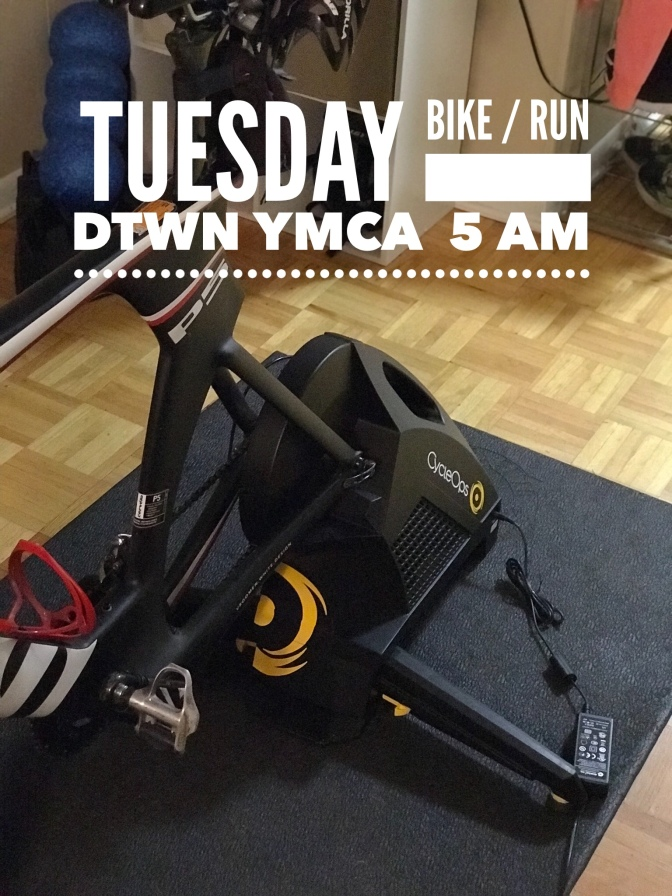 Tuesday – Bike/Run Session