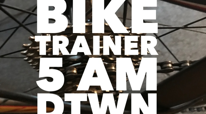 Thursday – Bike Trainer session