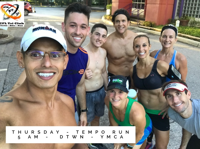 Thursday – tempo run