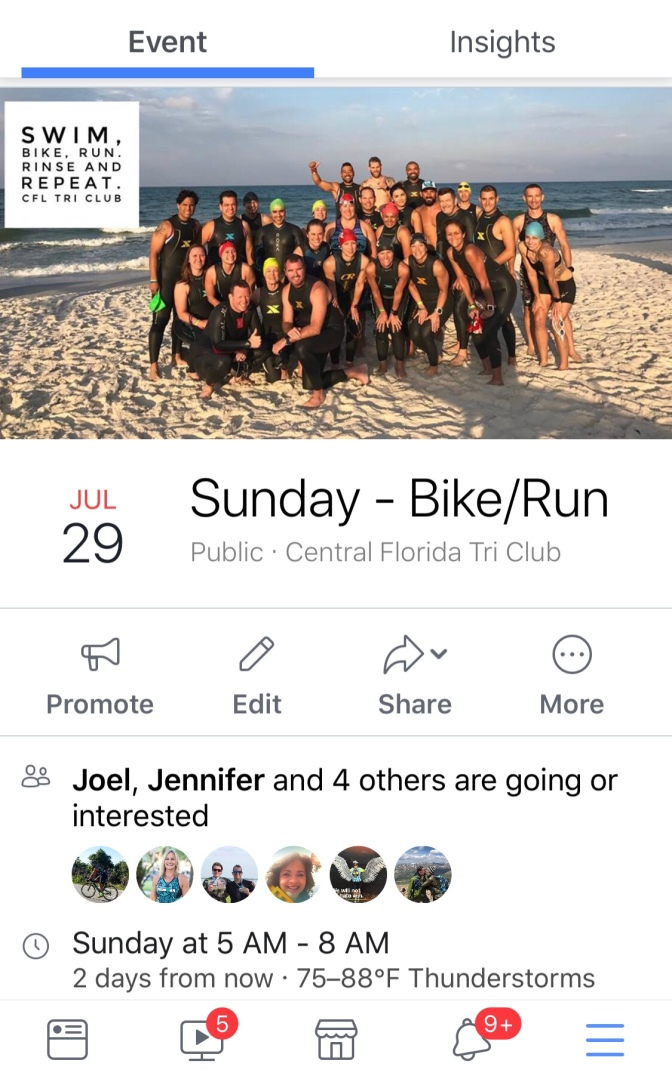 Sunday – Bike / Run (revised)