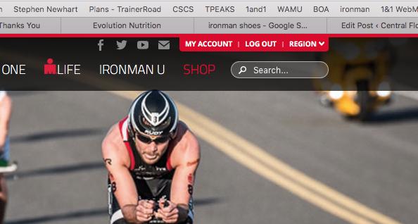 Ironman Website – Club Affiliation