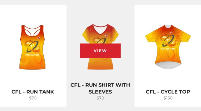 Order your CFL Tri Club Apparel today!